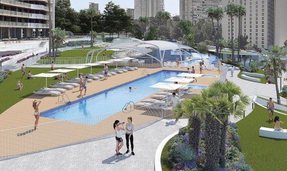 Piso en Alicante, Benidorm, 109 m2, piscina   | 6