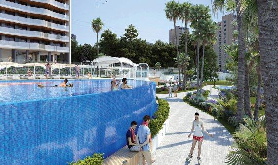 Piso en Alicante, Benidorm, 151 m2, piscina   | 6