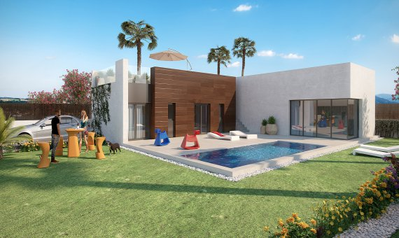 Villa in Alicante, Algorfa, 119 m2, pool   | 1