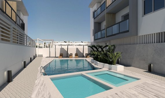 Квартира на последнем этаже в Аликанте, Бенихофар, 90 м2, бассейн   | 2