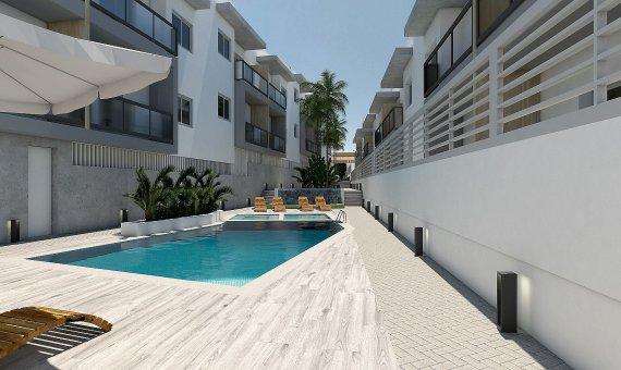 Квартира на последнем этаже в Аликанте, Бенихофар, 90 м2, бассейн   | 16