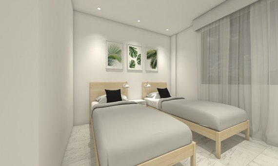 Квартира на последнем этаже в Аликанте, Бенихофар, 90 м2, бассейн   | 10