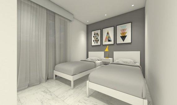 Квартира на последнем этаже в Аликанте, Бенихофар, 90 м2, бассейн   | 13