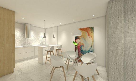 Квартира на последнем этаже в Аликанте, Бенихофар, 90 м2, бассейн   | 6