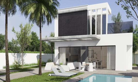 Villa in Alicante, El Campello, 270 m2, pool -