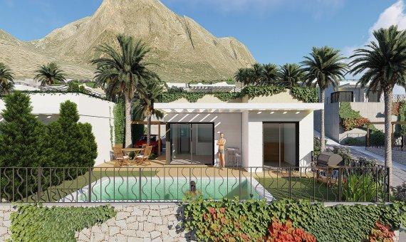 Villa in Alicante, Polop, 70 m2, pool -