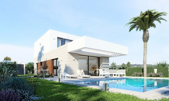 Villa in Alicante, Montesinos, 157 m2, pool -