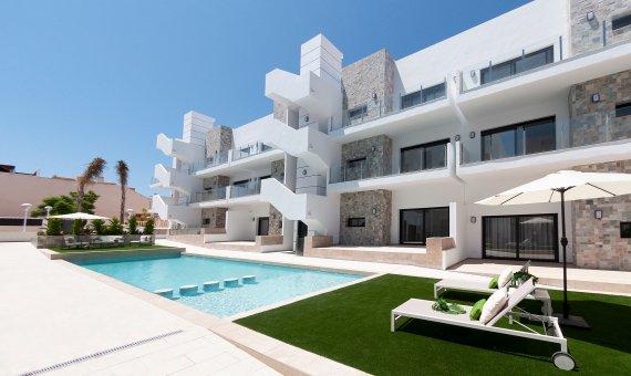 Planta baja en Alicante, Arenales del Sol, 89 m2, piscina -