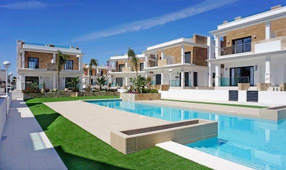 Спаренный дом в Аликанте, Рохалес, 150 м2, бассейн -