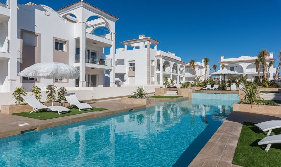 Квартира на последнем этаже в Аликанте, Рохалес, 89 м2, бассейн -