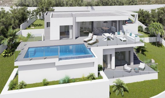Villa in Alicante, Benitachell, 384 m2, pool -
