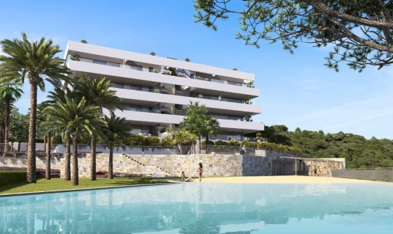 Квартира на первом этаже в Аликанте, Сан-Мигель-де-Салинас, 139 м2, бассейн -