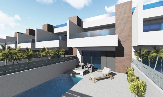 Casa adosada en Alicante, Benijófar, 171 m2, piscina -