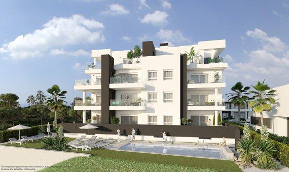 Apartment in Alicante, Orihuela Costa, 88 m2, pool -
