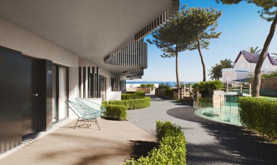 Ground floor apartment in Murcia, Santiago de la Ribera, 78 m2, pool -