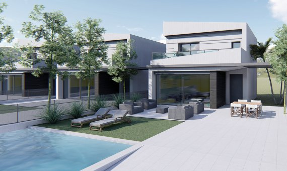 Villa in Alicante, Heredades - Almoradi, 128 m2, pool -