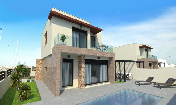 Villa in Alicante, Pilar de la Horadada, 125 m2, pool -