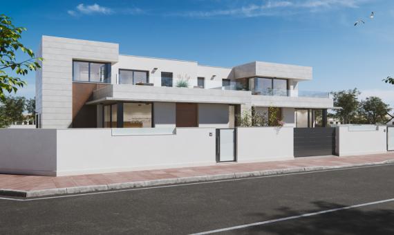 Спаренный дом в Мурcиа, Сантьяго-де-ла-Рибера, 139 м2, бассейн     2