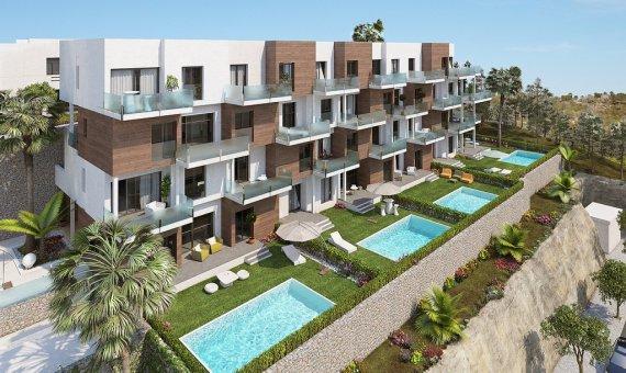 Квартира в Аликанте, Ориуэла Коста, 78 м2, бассейн -