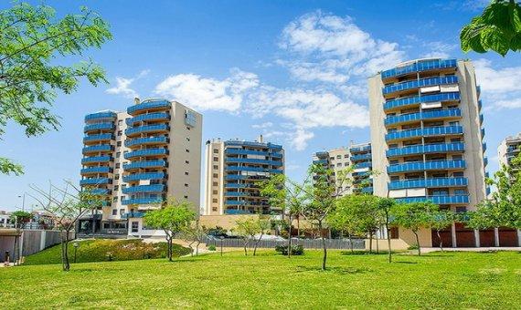 Квартира в Аликанте, Кампельо, 90 м2, бассейн -