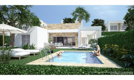 Villa in Alicante, Algorfa, 132 m2, pool   | 1