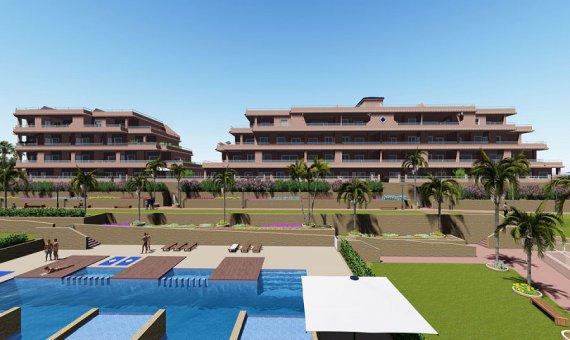 Квартира в Аликанте, Ориуэла Коста, 101 м2, бассейн -
