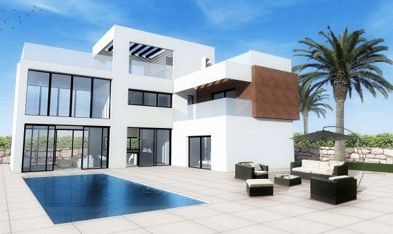 Villa en Alicante, Benidorm, 210 m2, piscina -