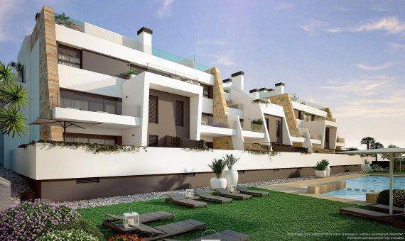 Квартира в Аликанте, Ориуэла Коста, 66 м2, бассейн -