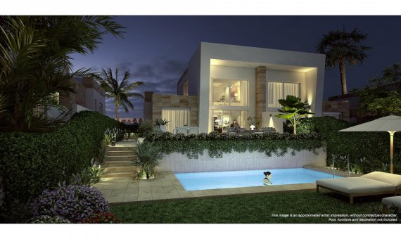 Semi-detached house in Alicante, Algorfa, 98 m2, pool   | 8