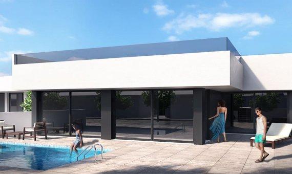 Вилла в Аликанте, Сан-Педро-дель-Пинатар - Мар Менор, 95 м2, бассейн -