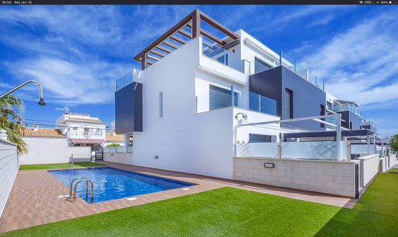 Квартира в Аликанте, Ориуэла Коста, 130 м2, бассейн -